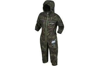 (12-18, Cypress Camo) - Regatta Children's Puddle Iv All-in- One Suit