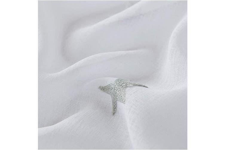 "(2x W55""xL102"", Grey) - Deconovo Cortinas Visillos para Ventana Grande de Hogar Cortina Transl¨²cida con Ojales para Dormitorio 1 Par 140 x 260 cm Gris"