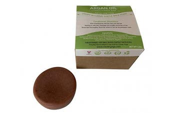 (Argan Oil 1bar) - Conditioner Bar for All Hair Types - Perfect Travel Bar Conditioner for Hair - Vegan Solid Conditioner Bar for Lush Full and Frizz Free Hair by Clever Yoga (Argan Oil 1bar)