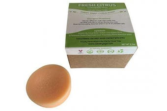 (Fresh Citrus 1bar) - Conditioner Bar for All Hair Types - Perfect Travel Bar Conditioner for Hair - Vegan Solid Conditioner Bar for Lush Full and Frizz Free Hair by Clever Yoga (Fresh Citrus 1bar)