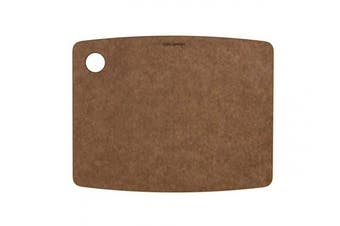 (29cm  × 23cm , Nutmeg) - TopGourmet Kitchen Series Cutting and Chopping Board, Compressed Wood Composite, 30 x 22.5 x 0.6 cm, Nutmeg Brown