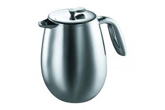 (1510ml) - Bodum COLUMBIA Coffee Maker, Thermal French Press Coffee Maker, Stainless Steel, 1510ml (12 Cup)