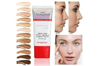 (108#Tan) - PHOERA 30ml Perfect Matte Liquid Foundation 24 Hours Long lasting Whitening Oil Control Concealer Liquid Foundation Cream TSLM2 (108#Tan)