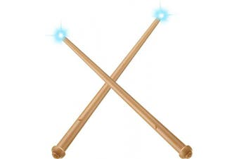 Gejoy 2 Pieces Light-up Wand Magic Light and Sound Toy Wizard Wands for Halloween Cosplay