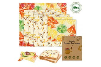 Beeswax Wrap, Eco-Friendly Reusable Food Bee Wraps Set, Sustainable Plastic Free Food Storage -Alternative to Cling Film/Silicone Lid Sandwich Wrappers | Washable Bowl Covers(Large, Medium, Small)
