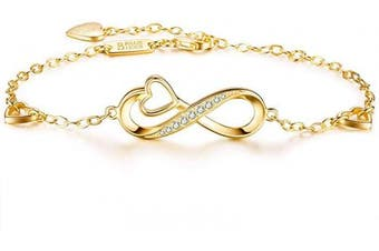 (J) - Billie Bijoux Womens 925 sterling Silver Infinity Endless Love Symbol Charm Adjustable Women's Bracelet for Mother's Day