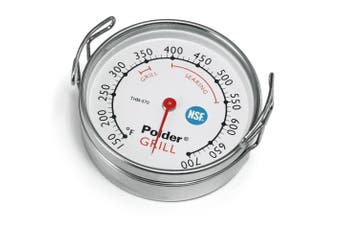 (1, Silver) - Polder Grill Surface Thermometer Silver