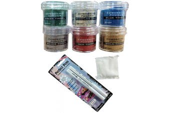 Ranger Embossing Powder Christmas Holiday Bundle-8 Items