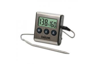 Taylor Digital Cooking Thermometer with Probe Silver 286444