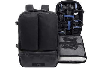 (Director´s Cut) - Crumpler Creator's Director's Cut Backpack CRE-DCBP-0-01-001 Made of Recycled PET Multifunctional-Daypack 38cm Laptop 20cm Tablet Rucksack, 33 litre, black