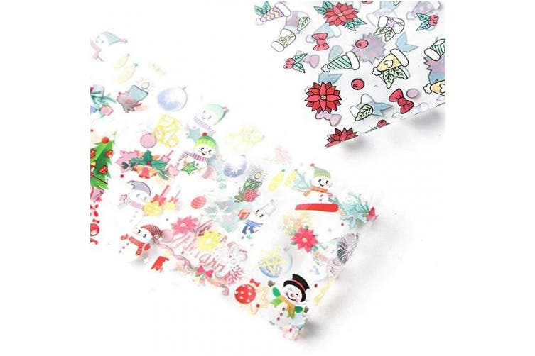 10 Sheets Christmas Nail Stickers 10 Sheets Christmas Nail Transfer Foils Slide Stickers Colourful Merry Christmas
