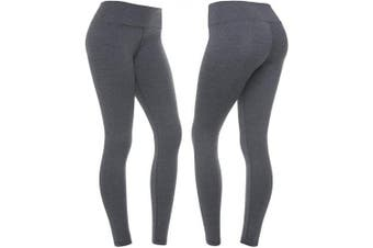 (Medium, Carbon Heather Gray) - CompressionZ High Waisted Women's Leggings - Smart, Flexible Compression for Yoga, Running, Fitness & Everyday Wear