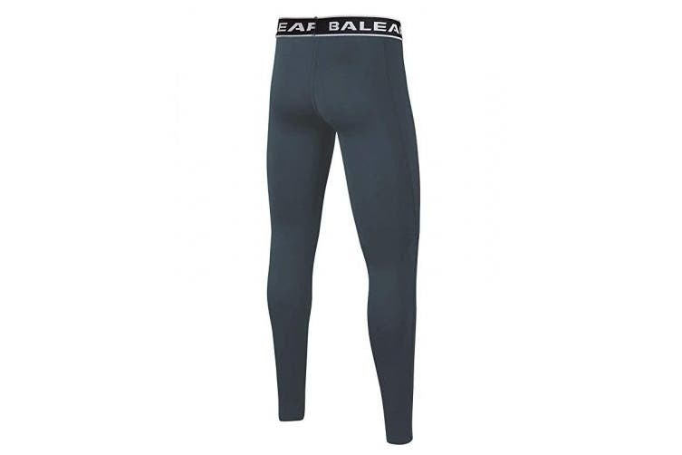 (L(Age 12-13), Gray) - BALEAF Youth Boys' Compression Pants Base Layer Leggings Running Basketball Tights
