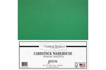 (Green) - Green Cardstock Paper - 30cm x 30cm - 29kg. - 25 Sheets Premium Cover from Cardstock Warehouse