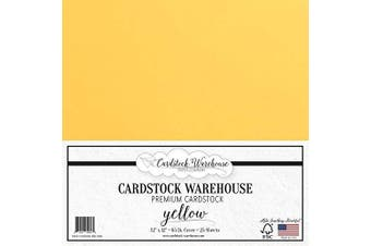 (Yellow) - Yellow Cardstock Paper - 30cm x 30cm - 29kg. - 25 Sheets Premium Cover from Cardstock Warehouse