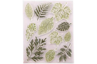 Different Type Leaves Maple Palm Leaves Rubber Clear Stamp/Seal Scrapbook/Photo Album Decorative Card Making Clear Stamps