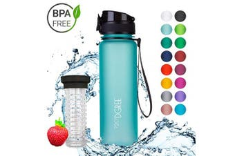 "(500ml, 05 Ocean Blue | Softtouch) - 720°DGREE Water Bottle ""uberBottle"" +Fruit-Infuser - 350ml, 500ml, 650ml, 1L - BPA-Free Tritan, Leakproof, Reusable - Sports, Drinking Bottle for Gym, Fitness, Kids, Fitness, Cycling, School & Office"