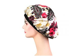 (Lh-25) - Soft Satin Sleep Cap – Night Bonnet with Wide Elastic Band for Women