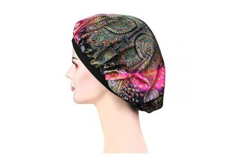 (Lh-24) - Soft Satin Sleep Cap – Night Bonnet with Wide Elastic Band for Women