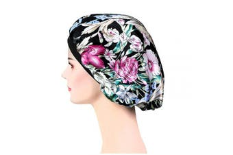 (Lh-26) - Soft Satin Sleep Cap – Night Bonnet with Wide Elastic Band for Women