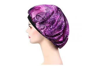 (Lh-28) - Soft Satin Sleep Cap – Night Bonnet with Wide Elastic Band for Women