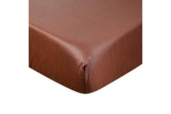 (Brown) - Crib Sheet UOMNY 100% Cotton Crib Fitted Sheets Baby Sheet for Standard Crib and Toddler mattresses Nursery Bedding Sheet,70cm x 130cm Mattress Sheets for Boys and Girls 1 Pack Brown