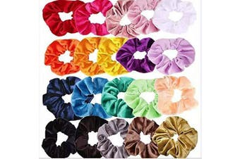 (Suit 1) - Colourful Elastic Hair Ties Scrunchy ,Colourful Scrunchy Bobbles Bands ,Elastic Hair Ties Scrunchies Velvet Hair Band,Velvet Ponytail Hair Ties,Scrunchy,Velvet Hair Bands Ties for Women Girls (Suit 1)