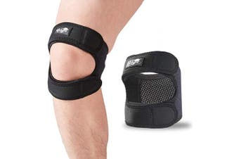 (Large) - Patellar Tendon Support Strap (Large), Knee Pain Relief Adjustable Neoprene Knee Strap for Running, Arthritis, Jumper, Tennis Injury Recovery