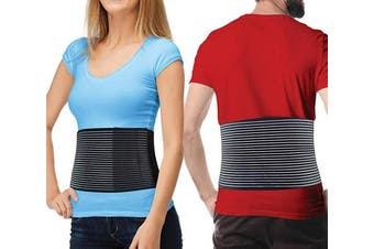 (L/XL (90cm  - 120cm )) - Hernia Belt for Men and Women - Abdominal Binder for Umbilical Hernias & Navel Belly Button Hernias with Compression Pad for Hernia Support and Stomach Hernia Brace Pain Relief (Large/XL)