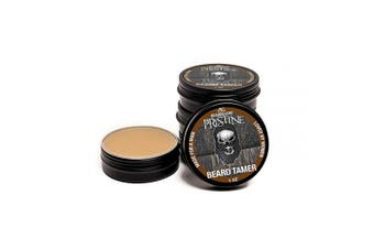(Brown) - Beard Gains Pristine Scented Colour Tinted Beard Tamer Wax for Men, Shape, Style & Groom Facial Hairs with Organic Balm Leave In Conditioner, Control Wild Whisker Hairs - Choose Your Hair Colour (Brown)