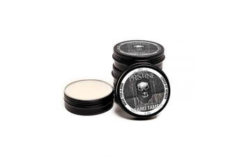 (White) - Beard Gains Pristine Scented Colour Tinted Beard Tamer Wax for Men, Shape, Style & Groom Facial Hairs with Organic Balm Leave In Conditioner, Control Wild Whisker Hairs - Choose Your Hair Colour (White)