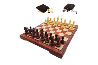 Chess Set Wooden Magnetic Chess 38cm Travel Chess Set With Folding Chess Board Travel Board Games Professional Chess Pieces For Adults Kids, Craftsmanship, Durable and Lightweight