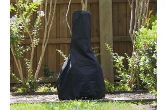 (28DIAMETER x 48H, Black Polyester) - Covermates Chiminea Cover : 28 x 48 Black