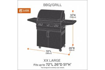 (XX-Large) - Classic Accessories 73952 Veranda Grill Cover - Durable BBQ Cover with Heavy-Duty Weather Resistant Fabric, XX-Large, 180cm