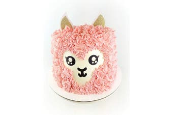 CMS Design Studio Handmade Llama Birthday Cake Topper Decoration - Alpaca - Double Sided Glitter Stock