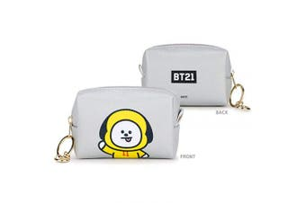 (CHIMMY) - BTS Official PU Small Square Pouch(s) + Idolpark Gift (CHIMMY)