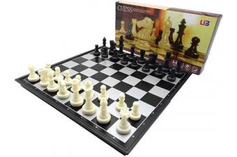 Chess Set Magnetic Chess Set 33cm Travel Chess Set With Folding Chess Board Travel Board Games Professional Chess Pieces For Adults Kids, Craftsmanship, Durable and Lightweight