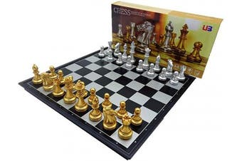 Chess Set Magnetic Travel 33cm Chess Set With Folding Chess Board Travel Board Games Professional Chess Pieces For Adults Kids, Craftsmanship, Durable and Lightweight