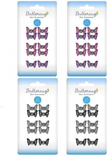 40pk Butterfly Glitter Hair Clips For GirlsHigh Quality Claw Grips