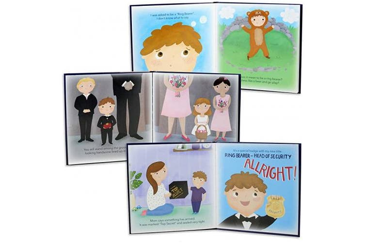 Tickle & Main - Ring Bearer Gift Set – Includes Book, Badge, and Wedding Ring Security Briefcase. I'm Head of Security - I'm The Ring Bearer!