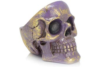 (Purple) - Piquaboo Colourful Skull Head Ashtray Indoor Outdoors (Purple)