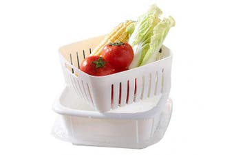 Xifando Dish Tub and Colander Set with Lid,Vegetable and Fruit Washer/Compact Storage