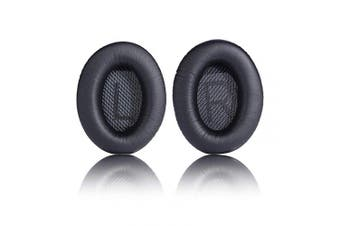 (Black v2) - Replacement Ear Pad Cushion Memory Foam Ear Cup Repair for Bose Headphones Quiet Comfort 2 Qc2, Qc15, 25 Qc25, Ae2, Ae2I, Ae2W Headphone (Black v2)