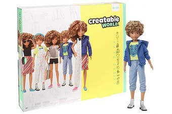 CREATABLE WORLD GGG56 Deluxe Character Kit Customisable Doll, Creative Play for All Kids 6 Years Old and Up, Blonde Curly Hair
