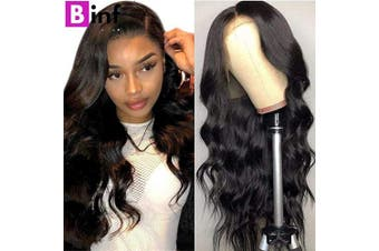 (41cm ) - BINF Hair 41cm Unprocessed Brazilian Human Hair Lace Front Wig Pre Plucked with Baby Hair Brazilian Body Wave Human Hair Wigs for Black Women 150% Density Natural Hairline 13X4 Lace Frontal