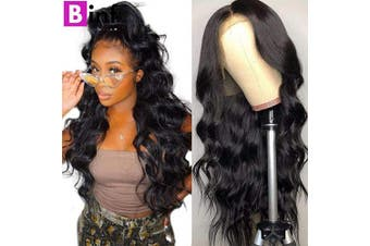 (22) - BINF Hair 60cm Glueless Body Wave Lace Front Wigs Human Hair Wigs Pre Plucked Natural Hairline with Baby Hair 100% Unprocessed Brazilian Virgin Body Wave Human Hair Lace Frontal Wig for Black Women