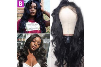 (18) - BINF Hair Virgin Hair Wigs 46cm Body Wave Human Hair Lace Front Wigs with Baby Hair Pre Plucked Bleached Knots Body Wave Lace Front Wigs Natural Wave Wigs for Black Women 150% Density 13X4 Lace Wig