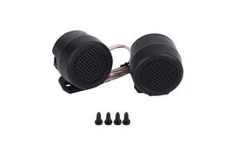 Qiilu 2Pcs 12V/500W Car Super Power Car Loud Speak Tweeter Loudspeaker Audio Round (black)