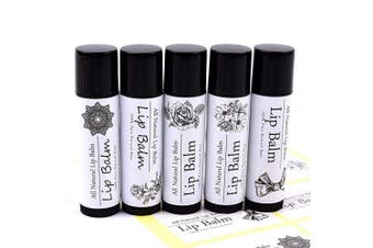 Printed Lip Balm Stickers - White Lip Balm Stickers Wrap Labels for Empty Black Clear Lip Balm Containers Chapstick Tubes