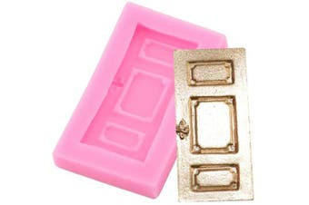 3D Window Door House Silicone Mould for DIY Fondant Mould Chocolate Handmade Ice Cream Crystal Gum Paste Pudding Jelly Shots Candy Cupcake Cake Topper Decoration Ice Cube Desserts Soap Mould